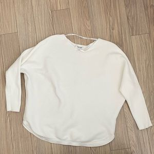 Ever New White Knit Crew Neck Sweater